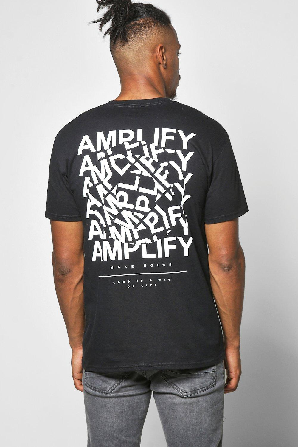 Amplify Front & Back Print T Shirt