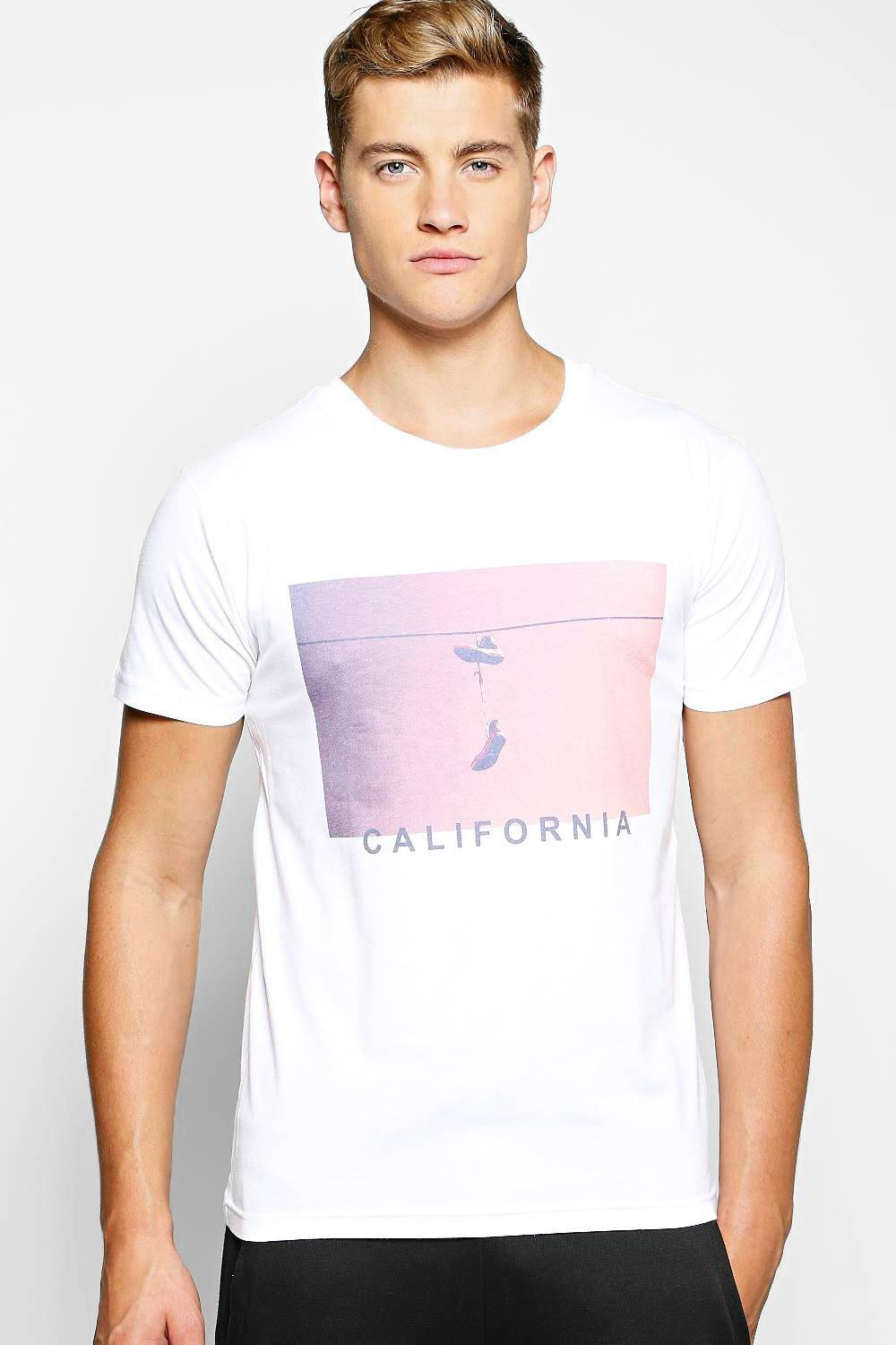 California Sneaker Print T Shirt