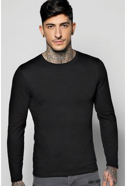 Long Sleeve Muscle Fit T Shirt