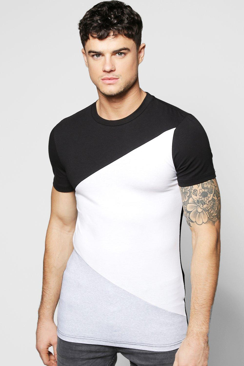 Muscle Fit Spliced T Shirt