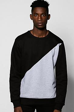 Spliced Two Panel Crew Sweat