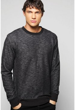 Space Dye Crew Neck Sweatshirt