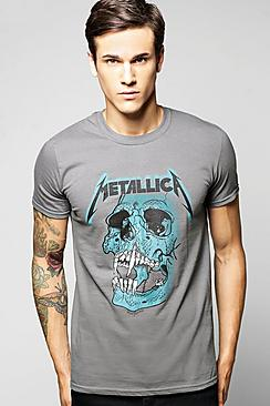 Metallica License Print T Shirt