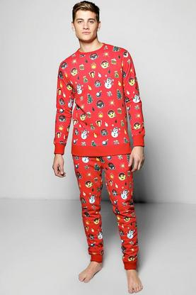All Over Xmas Print Tracksuit