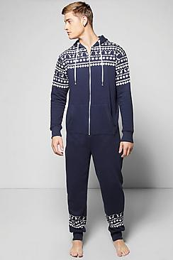 Fairisle Hooded Onesie