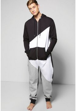 Spliced Hooded Onesie