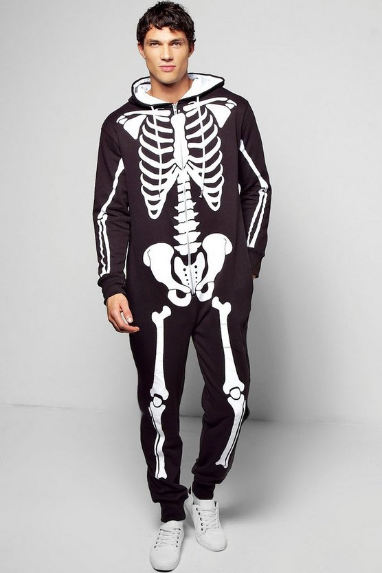Skeleton Hooded Onesie