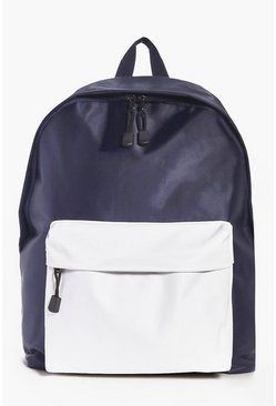 Nylon Rucksack with Contrast Front Pocket