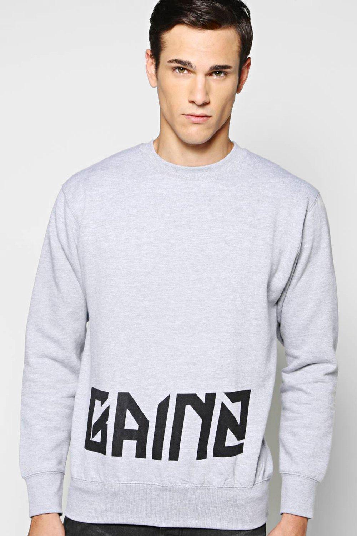Slogan Sweatshirt - grey