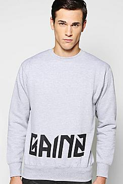 Gainz Slogan Sweater