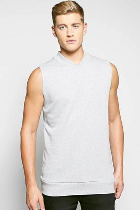 Bomber Neck Sleeveless Sweater