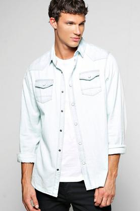 Western Style Long Sleeve Denim Shirt