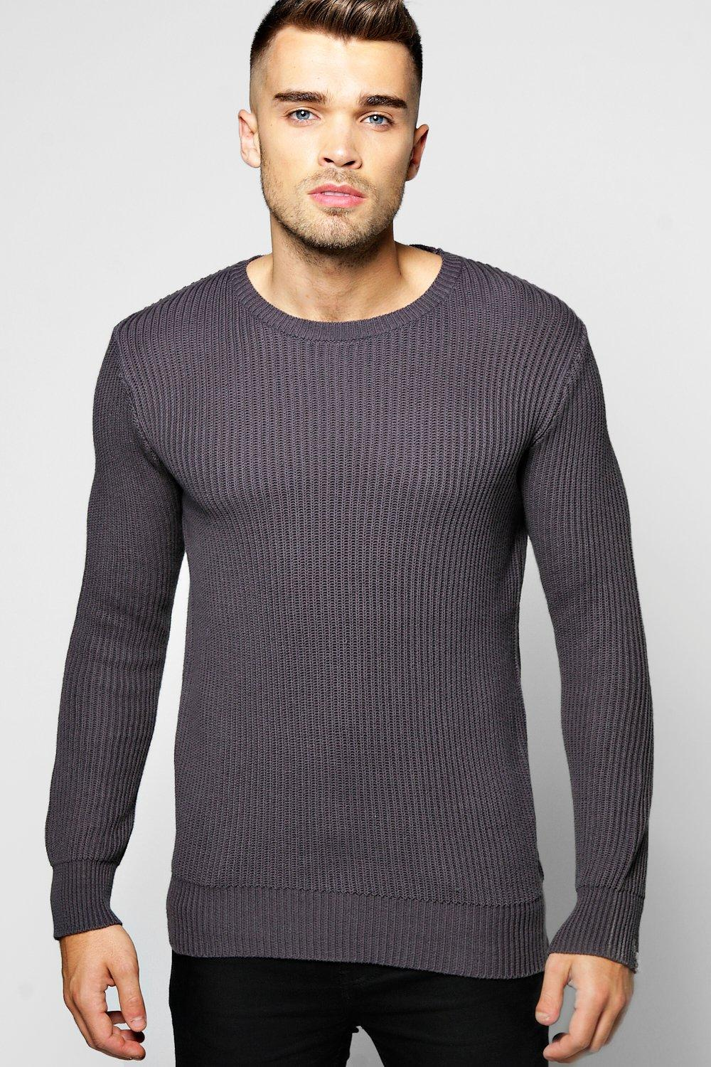 Fisherman Rib Crew Neck Sweater