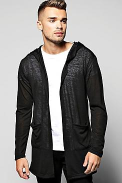 Longline Lightweight Cardigan With Pockets
