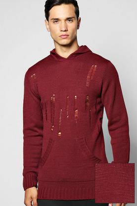 Destroyed Knitted Hoody