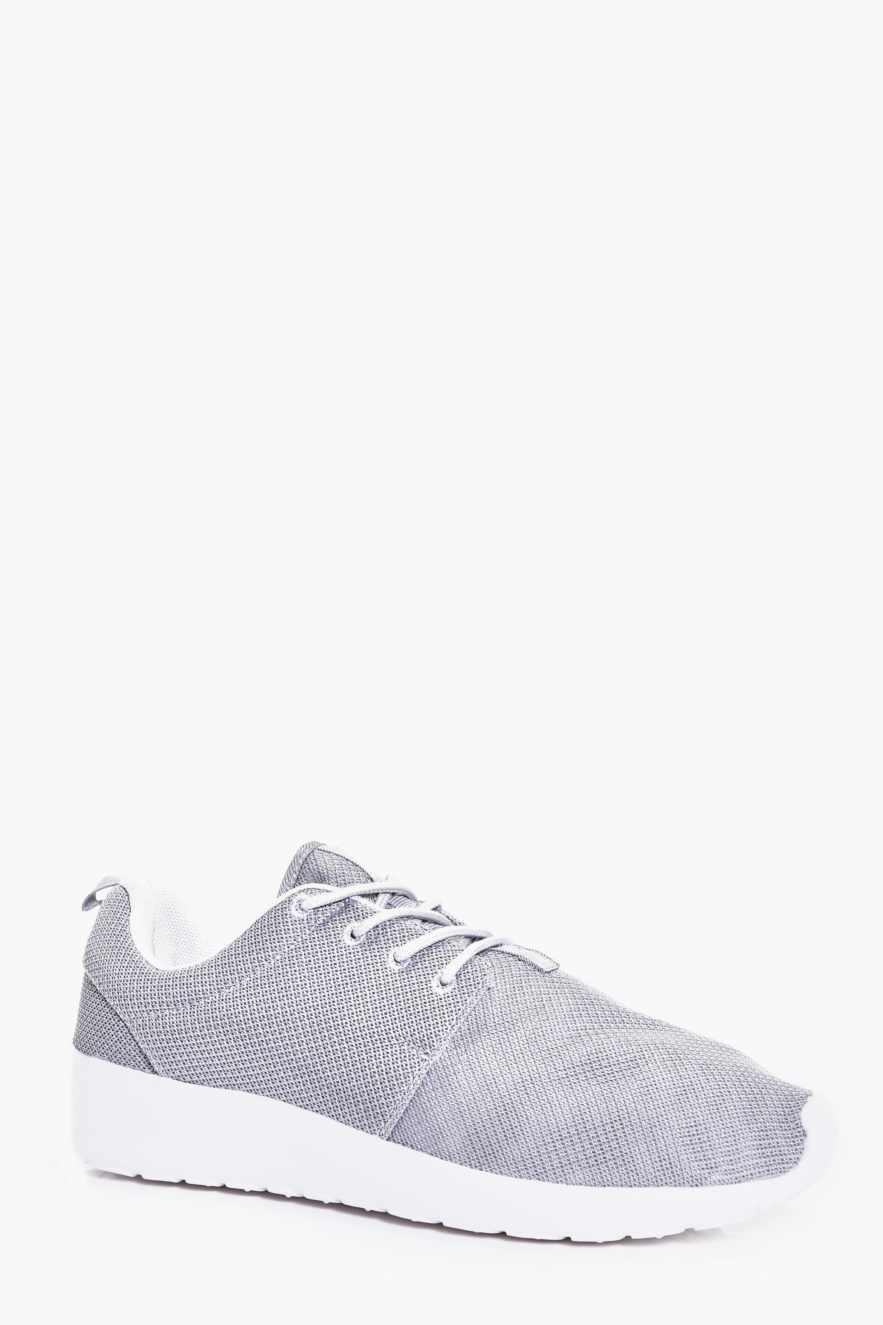 Product photo of Lace up running trainers grey