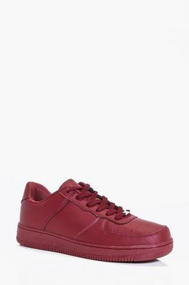 Lace Up Trainers With Metallic Detail