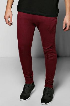 Skinny Fit Distressed Joggers