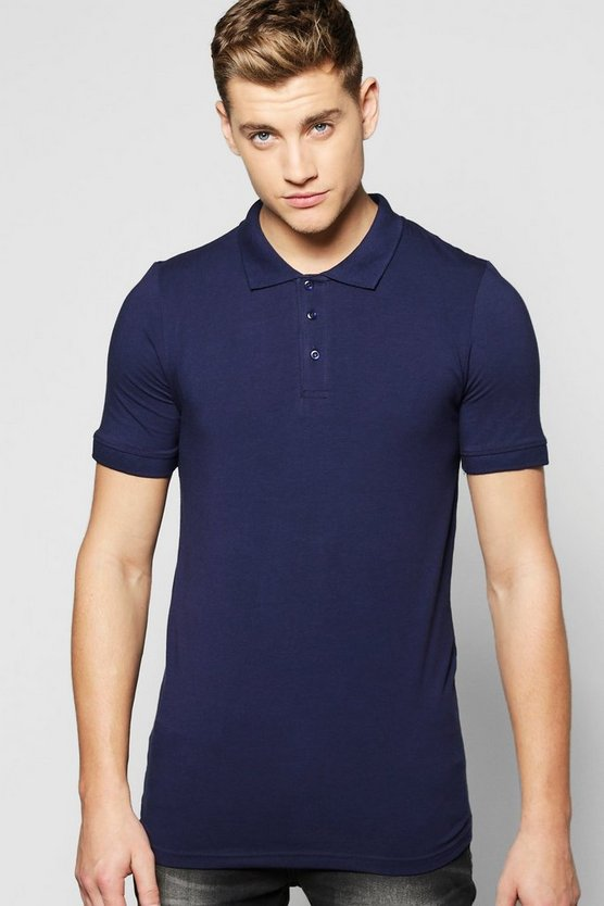 Muscle Fit Polo In Jersey