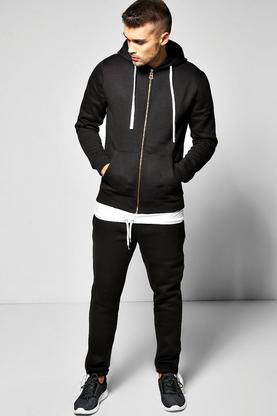 Skinny Fit Hooded Tracksuit