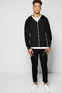 Skinny Fit Waffle Tracksuit