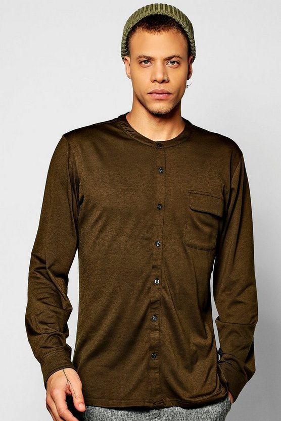 Long Sleeve Utility Grandad Shirt