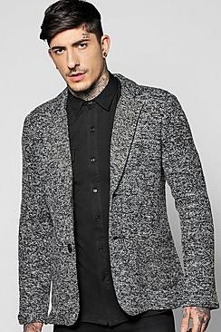 Knitted Slim Fit Blazer