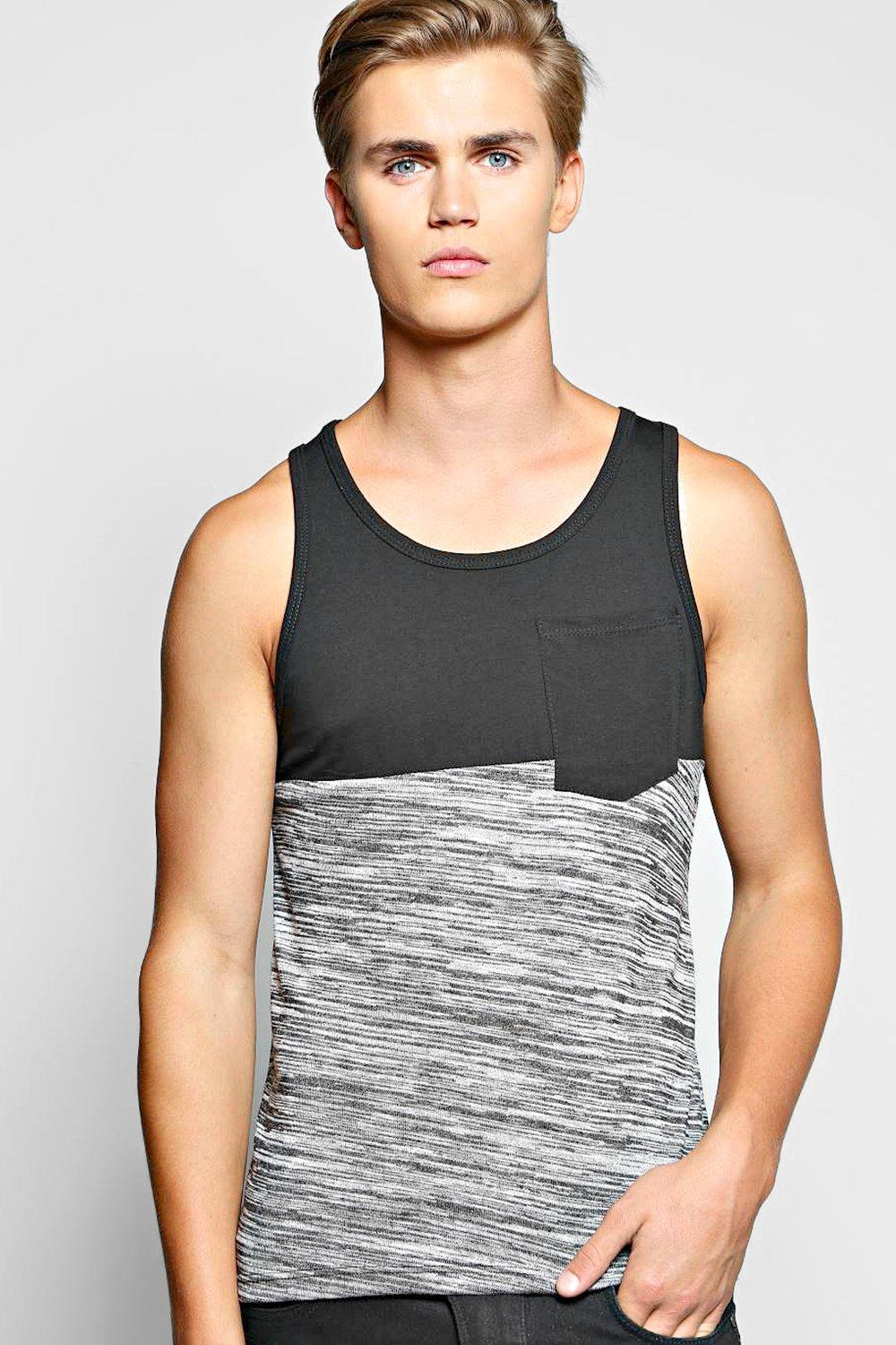 Cut And Sew Space Knit Vest