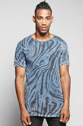 All Over Print Marble Wash T Shirt