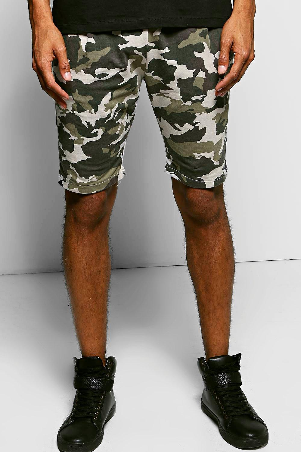 Long Length All Over Camo Shorts