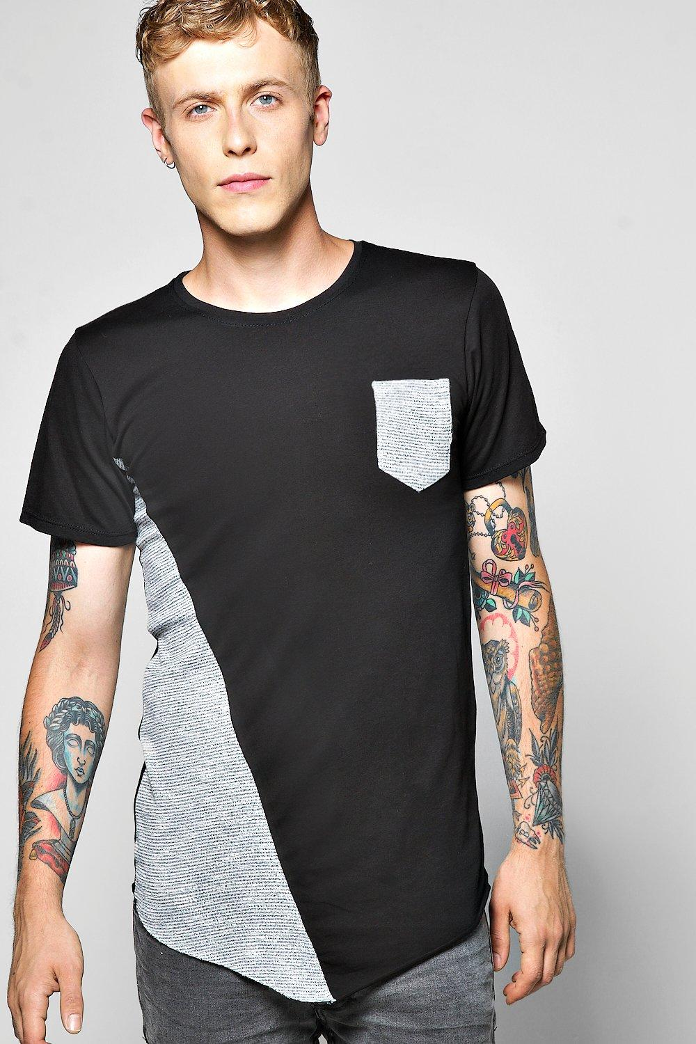 Space Spliced Pocket T Shirt