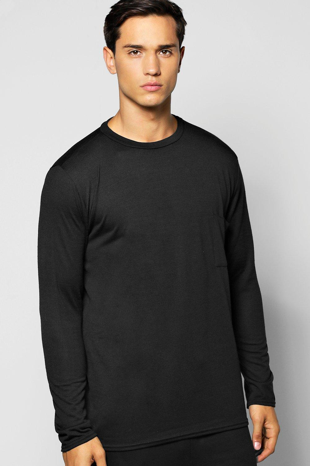 Long Sleeve Crew Neck Knitted T Shirt