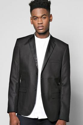 Smart Tux Skinny Fit Jacket With Satin Lapels