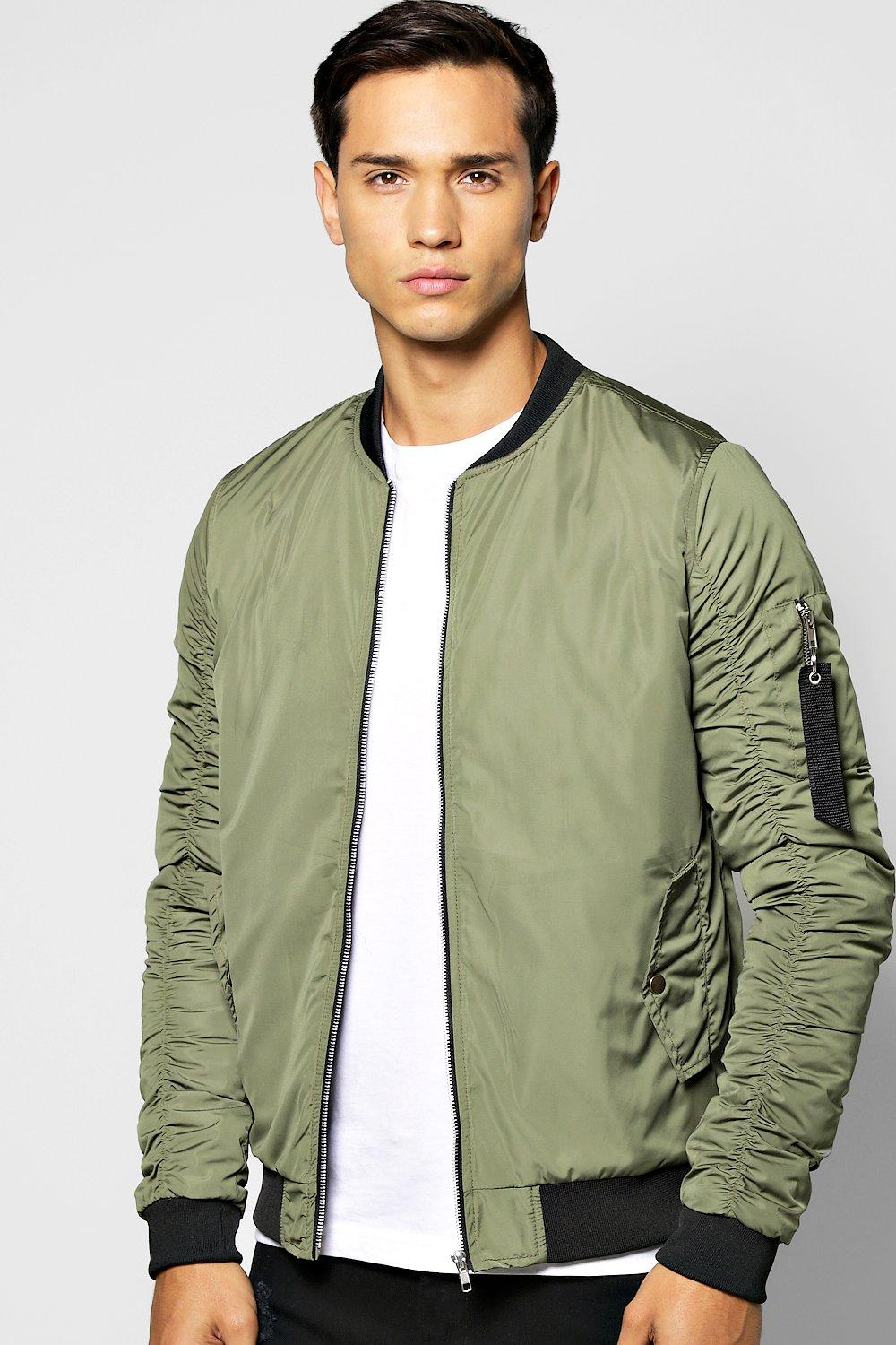 MA1 Bomber With Rouched Sleeves