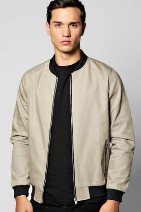 Coated Canvas Biker Detailed MA1 Bomber