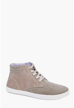 Lace Up Chambray Hi Tops