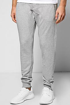 Skinny Fit Drop Crotch Joggers with Pockets