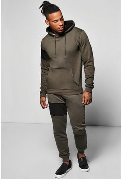 Skinny Block Panel Tracksuit