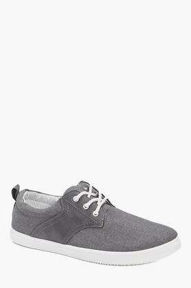 Lace Up Chambray Plimsolls