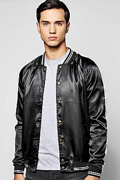 Quincy Raglan Sleeve Lightweight Bomber