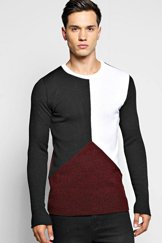 Spliced Long Sleeve Sweatshirt