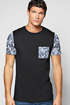 Sublimation Pocket And Sleeve T Shirt