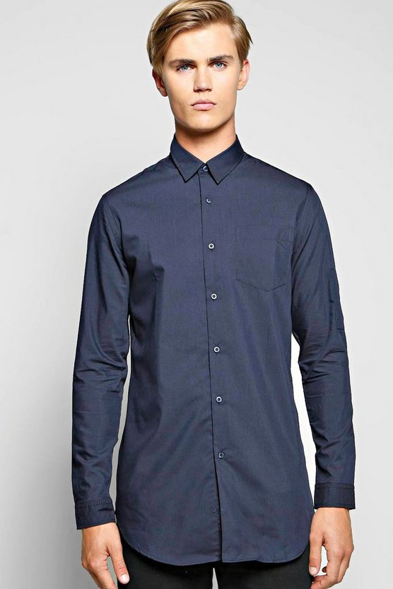 Longline Shirt With MA1 Sleeve