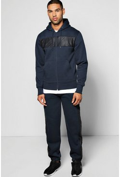 Hooded Zip Through Tracksuit Mesh Panel
