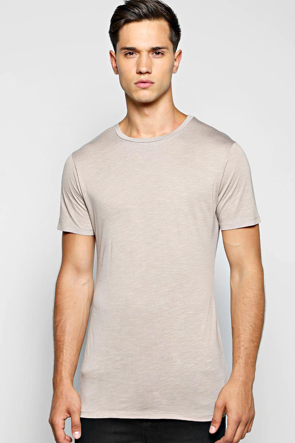 Longline Muscle Fit T Shirt