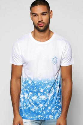 Faded Splatter Sublimation T Shirt