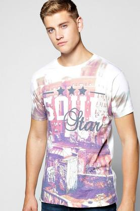 Graffiti Print T Shirt