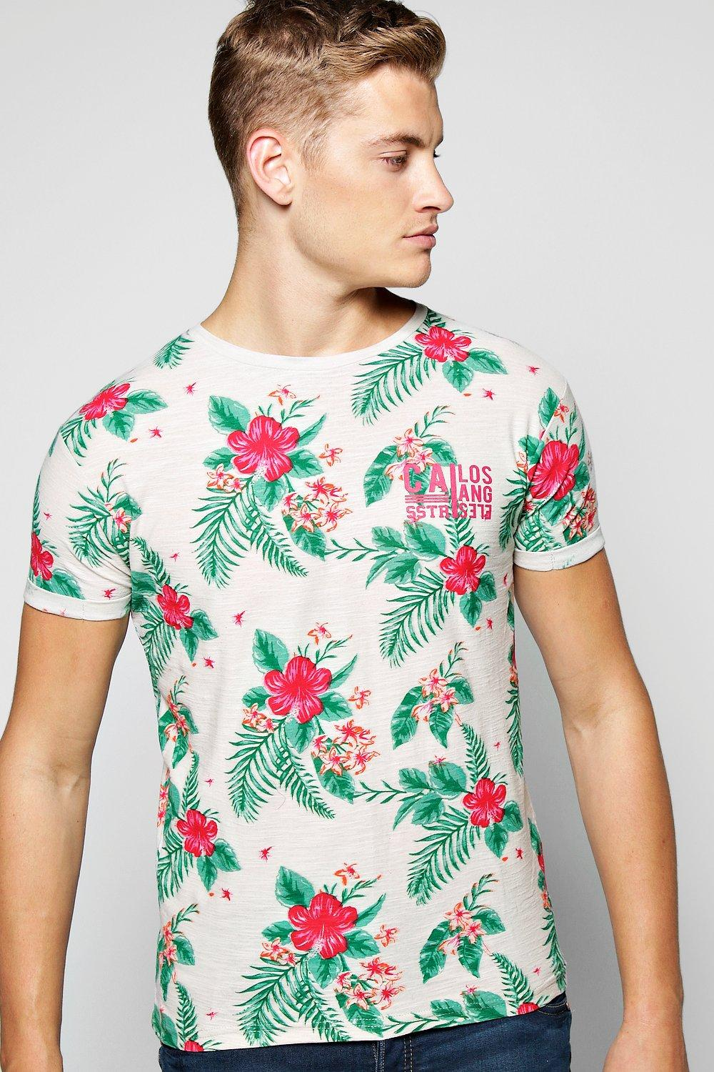 All Over Floral Print T Shirt
