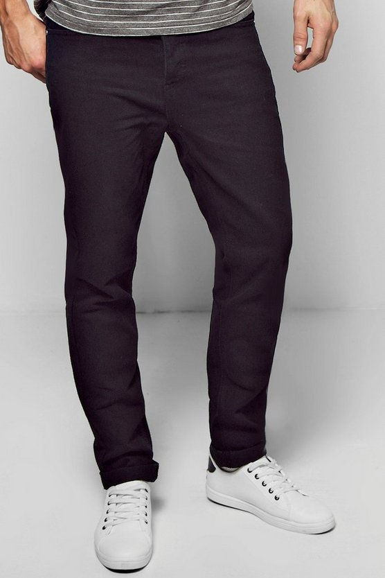 Washed Black Slim Fit Rigid Jeans