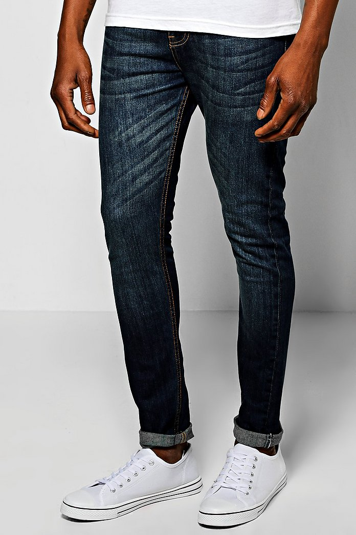 Mid Blue Super Skinny Fit Jeans